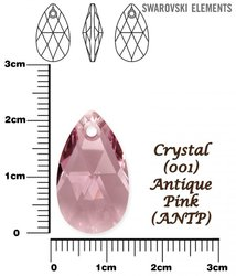 SWAROVSKI 6106 CRYSTAL ANTIQUE PINK 22mm