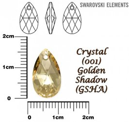 SWAROVSKI 6106 CRYSTAL GOLDEN SHADOW  16mm