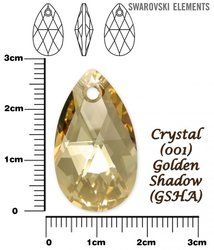 SWAROVSKI 6106 CRYSTAL GOLDEN SHADOW  28mm