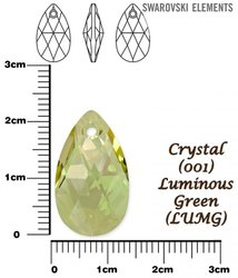 SWAROVSKI 6106 CRYSTAL LUMINOUS GREEN  22mm