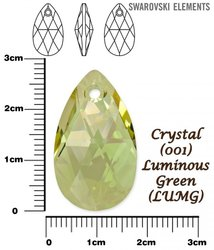 SWAROVSKI 6106 CRYSTAL LUMINOUS GREEN 28mm
