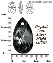 SWAROVSKI 6106 CRYSTAL SILVER NIGHT  28mm