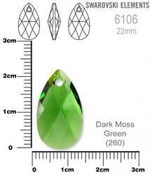 SWAROVSKI 6106 DARK MOSS GREEN 22mm