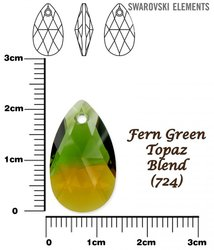 SWAROVSKI 6106 FERN GREEN TOPAZ BLEND 22mm