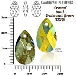 SWAROVSKI 6106 IRIDESCENT GREEN 22mm