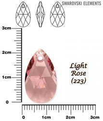 SWAROVSKI 6106 LIGHT ROSE  22mm