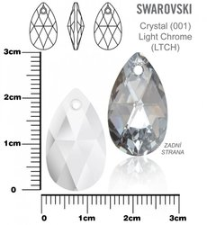 SWAROVSKI 6106 Light Chrome  22mm