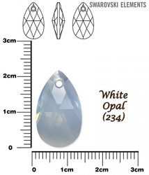 SWAROVSKI 6106 WHITE OPAL  22mm