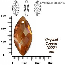 SWAROVSKI 6110 COPPER 30x14mm