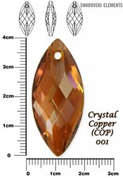 SWAROVSKI 6110 COPPER 40x18mm