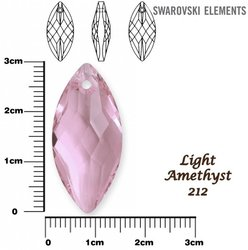 SWAROVSKI 6110 LIGHT AMETHYST 30x14mm
