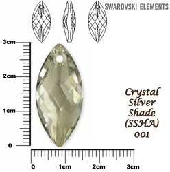 SWAROVSKI 6110 SILVER  SHADE 30x14mm