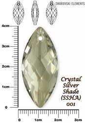SWAROVSKI 6110 SILVER SHADE 40x18mm
