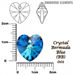 SWAROVSKI 6202 BERMUDA BLUE 14x14mm