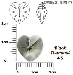SWAROVSKI 6202 BLACK DIAMOND 14x14mm