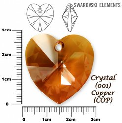SWAROVSKI 6202 CRYSTAL COPPER 28mm