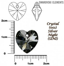 SWAROVSKI 6202 CRYSTAL SILVER NIGHT 14x14mm