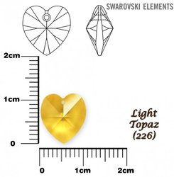 SWAROVSKI 6202 LIGHT TOPAZ 10x10mm