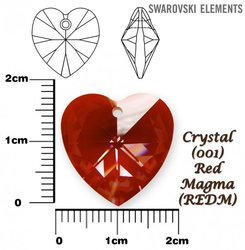 SWAROVSKI 6228 RED MAGMA 18x17mm