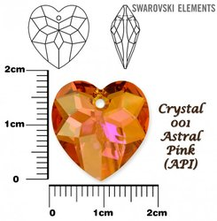 SWAROVSKI 6215 ASTRAL PINK 18mm