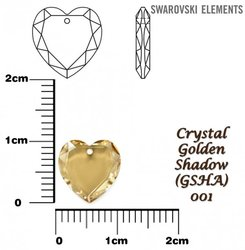 SWAROVSKI 6225 GOLDEN SHADOW 10mm