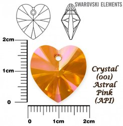 SWAROVSKI 6228 ASTRAL PINK 18x17mm