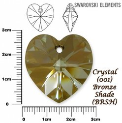 SWAROVSKI 6228 BRONZE SHADE  28mm