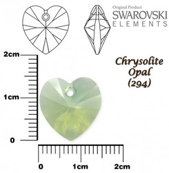 SWAROVSKI 6228 CHRYSOLITE OPAL 14x14mm