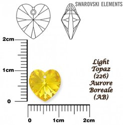 SWAROVSKI 6228 LIGHT TOPAZ  AURORE BOREALE 10x10mm