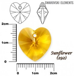 SWAROVSKI 6228 SUNFLOWER  18x17mm