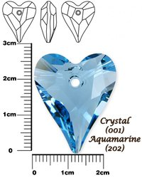 SWAROVSKI 6240 AQUAMARINE  27mm