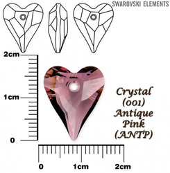SWAROVSKI 6240 CRYSTAL ANTIQUE PINK 17mm