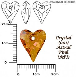 SWAROVSKI 6240 CRYSTAL ASTRAL PINK 17mm