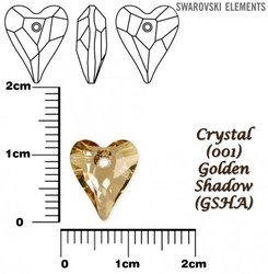 SWAROVSKI 6240 CRYSTAL GOLDEN SHADOW 12mm
