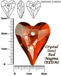 SWAROVSKI 6240 CRYSTAL RED MAGMA  27mm