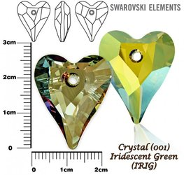 SWAROVSKI 6240 IRIDESCENT GREEN  27mm