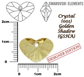 SWAROVSKI 6260 GOLDEN SHADOW 17mm