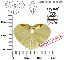 SWAROVSKI 6260 GOLDEN SHADOW 27mm