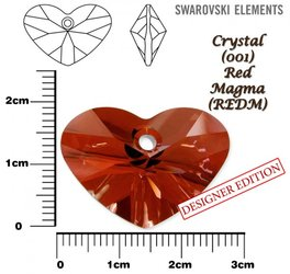 SWAROVSKI 6260 RED MAGMA  27mm
