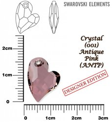 SWAROVSKI 6261 CRYSTAL ANTIQUE PINK 17mm