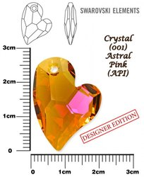 SWAROVSKI 6261 CRYSTAL ASTRAL PINK  27mm