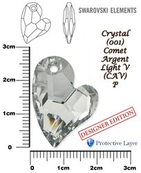 SWAROVSKI 6261 CRYSTAL COMET ARGENT LIGHT V+P 27mm