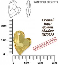 SWAROVSKI 6261 CRYSTAL GOLDEN SHADOW 17mm