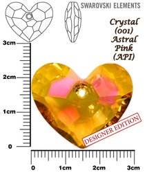 SWAROVSKI 6264 CRYSTAL ASTRAL PINK  28mm