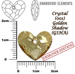 SWAROVSKI 6264 CRYSTAL GOLDEN SHADOW 18mm