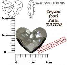 SWAROVSKI 6264 CRYSTAL SATIN 18mm