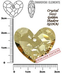 SWAROVSKI 6264 GOLDEN SHADOW 28mm