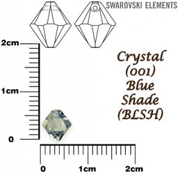 SWAROVSKI 6328 BLUE SHADE 6mm