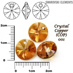 SWAROVSKI 6428 XILION  COPPER 12mm
