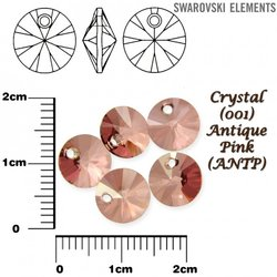 SWAROVSKI 6428 XILION ANTIQUE PINK 8mm